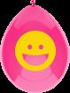 <p>O bico do balão fica para cima, somente inflado a ar. Este modelo de balão é usado somente para decoração.</p>