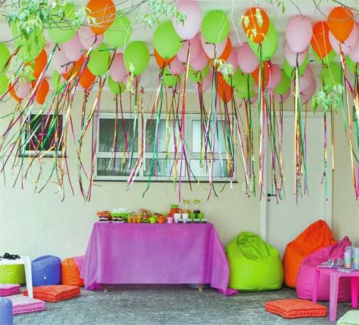 Decoração com balões para festas de crianças