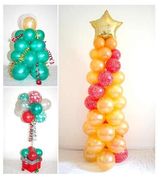 árvore de natal de balão