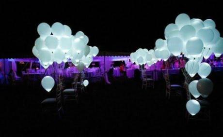 Balões com LED casamento