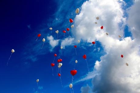 Balões personalizados de coração