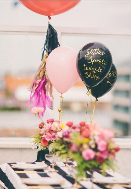 Balões decoração chá de panela