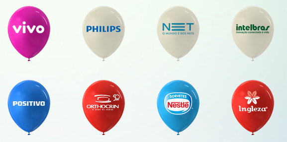 Balão personalizado impresso para divulgar marcas